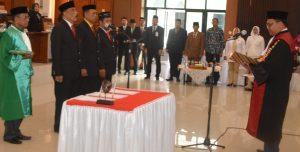 Bupati Hadiri Pengucapan Sumpah/Janji Pimpinan DPRD Sinjai