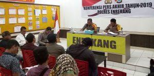 Konferensi Pers Akhir Tahun, Kapolres Enrekang Beberkan Kasus Menonjol