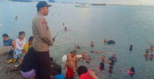 Satpolair Polres Pelabuhan Pengamanan Wisatawan Tanggul Pelabuhan