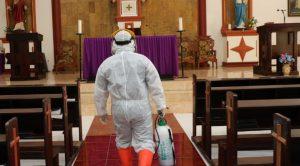 Gereja di Bantaeng Juga Disemprot Disinfektan