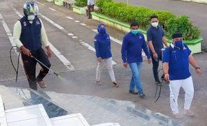 Nasdem Peduli, Penyemprotan Disinfektan dan Pembagian Masker