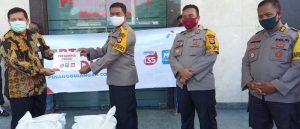 Pertamina MOR VII Serahkan 1 Ton Beras ke Polrestabes Makassar