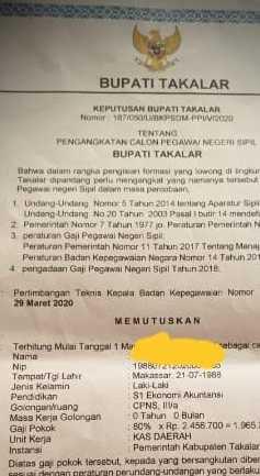 Polres Tahan Dua Oknum PNS, Terduga Pembuat SK CPNS Palsu