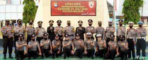 HUT Bhayangkara, 14 Personel Polres Majene Naik Pangkat