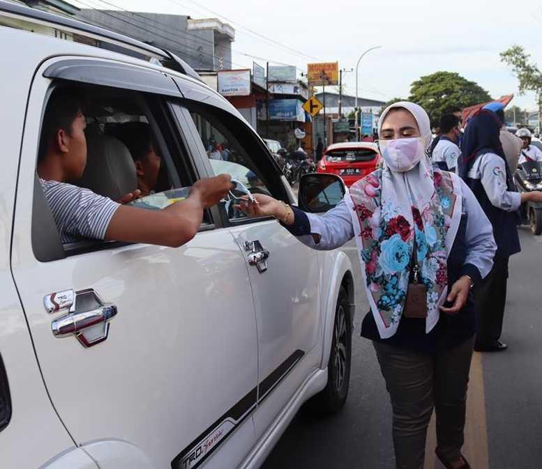 Globallink Makassar Support Gowa 2.000 Masker
