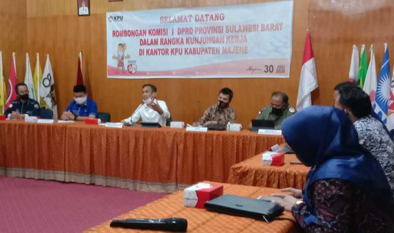 KPU Majene Terima Kunker Komisi I DPRD Sulbar
