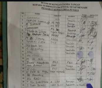 285 Warga Tandatangani Petisi Pertahankan Sudirman Nompo sebagai Pj Kades Punaga