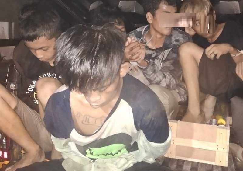 Polres Pelabuhan Amankan Sembilan Terduga Pelaku Tawuran