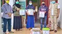 150 Paket Ramadan Ceria Baznas Disalurkan ke Penyapu Jalan dan Cleaning Servis