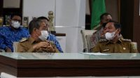 Bupati Dan Wabup Sidrap Ikuti Arahan Presiden Via Virtual.