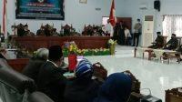 DPRD Majene Rapat Paripurna Pemberhentian Bupati Periode 2016-2021