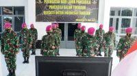 Prajurit Yonmarhanlan VI Ikuti Upacara Peringatan Hari Lahir Pancasila Secara Virtual