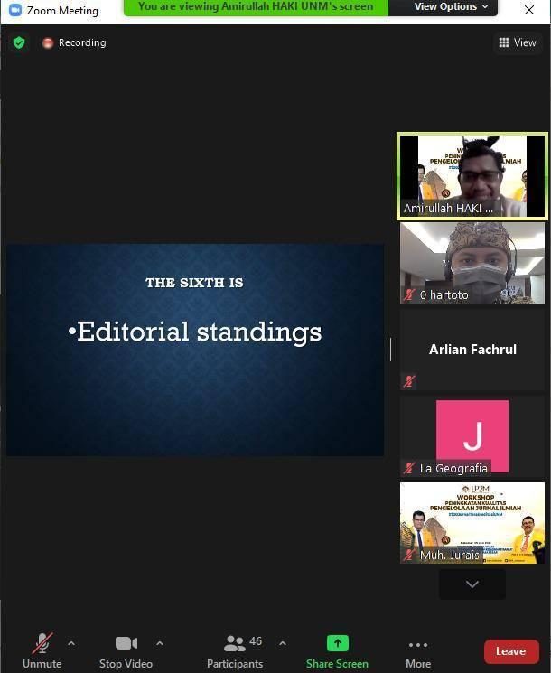 PKM Pengelolaan Journal: Kiat and Strategi Indeksasi Internasional