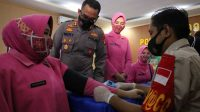 Kapolres Takalar Pantau Pelaksanaan Vaksinasi Massal Covid-19
