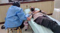 Menyambut Hari Bhayangkara Ke-75, Polres Enrekang Gelar Donor Darah