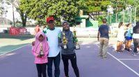 Kakak Beradik asal Pangkep Sabet Emas di Kejurnas Tenis Pelti Makassar