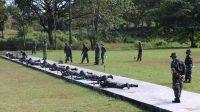 Kodim 1426/Takalar Gelar Latihan Menembak Senjata Ringan Triwulan II