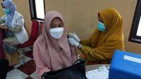 Peserta Vaksinasi Massal Polres Takalar Sudah Tembus 1.876 Orang