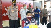 Sukseskan 1 Juta Vaksinasi, Polres Pelabuhan Makassar Vaksin 1.000 Warga