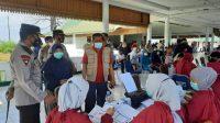 Sambut HUT Bhayangkara ke-75, Polres Majene Gencar Lakukan Vaksinasi