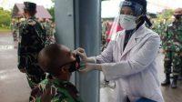 Antisipasi Penyebaran Covid-19 yang Semakin Meluas, Satdik-2 Makassar Laksanakan Swab Antigen Massal