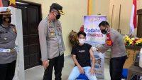 Polres Bantaeng, Bersama Dinas Kesehatan Gelar Vaksinasi Nasional