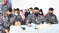 Danlantamal VI Hadiri Vicon Serbuan Vaksin TNI Serentak Bersama Panglima TNI