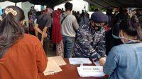 TNI AL Berhasil Suntik Vaksin Covid-19 12.500 Masyarakat Maritim di Makassar