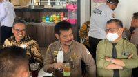 Tetap Patuhi Protkes, Mentan RI, Rektor UNM dan Kakanwil BNI Ngopi Bareng
