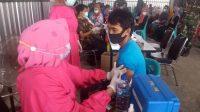 Kodim 1426 Takalar Gelar Vaksinasi Massal di Kecamatan Mangarabombang