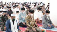 Pelaksanaan Salat Iduladha di Masjid Agung Syekh Yusuf Terapkan Protkes Ketat