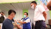 Sambut Hari Bhakti Adhyaksa ke-61, Bupati Bantaeng Hadiri Pelaksanaan Vaksinasi Covid-19