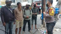 Bhabinkamtibmas Melayu Bersama Staf Kelurahan Tingkatkan Patroli PPKM Mikro