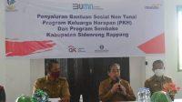 Bupati Sidrap Serahkan Kartu Sembako dan PKH di Kecamatan Tellu LimpoE
