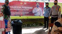 Tiga Pilar Kelurahan Banyorang Kerja Sama Puskesmas Labbo Gelar Vaksinasi Nasional
