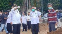 Taufan Pawe Tinjau Pembangunan Masjid Terapung Bj Habibie