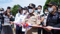 Bupati Lutim Resmikan Penyeberangan Perdana KMP Opudi dan KMP Pangkilang