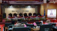 Rapat Paripurna, DPRD Bulukumba Dengarkan Pidato Kenegaraan Presiden RI Secara Virtual Berlangsung Khidmat