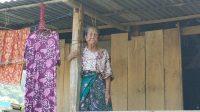 Hidup Sebatang Kara, Nenek Hasiah Belum Tersentuh Bansos