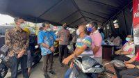 Jubir Presiden RI Kunjungi Gerai Vaksinasi Drive Thru Polres Pelabuhan Makassar