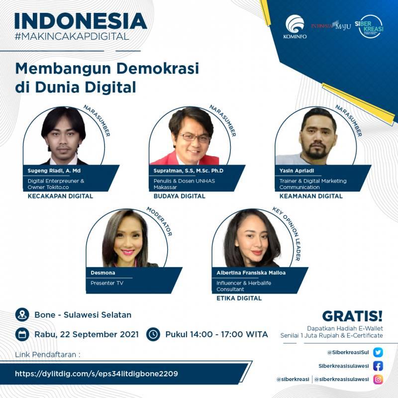 Literasi Digital Sulawesi 2021 Membangun Integritas Lewat Keterampilan Digital