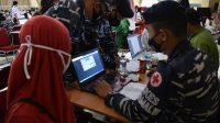Serbuan Vaksin Masyarakat Maritim, TNI AL Lantamal VI Dukung Gebyar 75.000 Vaksin di Kampus PIP Makassar