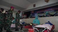 Sambut Hari Jadi ke-76 TNI AL 2021, Lantamal VI Makassar Gelar Bakti Kesehatan Donor Darah