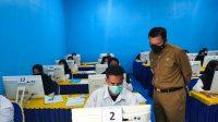 Bupati Basli Ali Pantau Pelaksanaan Tes PPPK