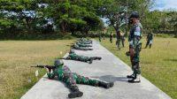 Asah Kemampuan Skill Personel, Kodim 1426/Takalar Gelar Latihan Menembak Triwulan
