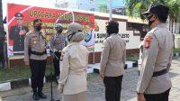 AKBP Kadarislam Pimpin Upacara Kenaikan Pangkat Anggotanya