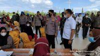 Kapolda Sulsel Tinjau Vaksinasi Massal Sponsor Akpol Angkatan 1999 di Takalar