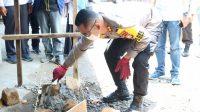 Kapolres Takalar Peletakan Batu Pertama Pembangunan Musholla di Polsek Galut