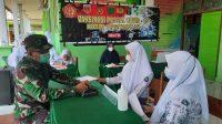 Dandim 1426/Takalar Tinjau Vaksinasi di SMA Negeri 13 Takalar