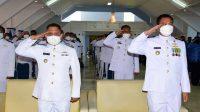 Personel Lantamal VI Makassar Ikuti Upacara Peringatan Hari Kesaktian Pancasila Tahun 2021 Secara Virtual